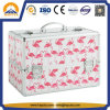 Pink Flamingo Carrying Makeup Train Case (HB-6315)