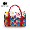 Fashion Colourful Transparent PVC Hand Cosmetic Bag Beach Bag