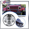 Wrangler Jk 80W LED Headlight for Jeep Truck, for SUV 7 Inch Headlight for Container Truck
