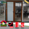 UPVC Plastic Exterior Wooden Colour French Glass Door Australia Standards