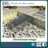 Outside Aluminum Stage with Black Carpet Deck for Sale (RK-ASP1X1P)