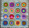 Custom New Design Fancy Decorative Hand Knitted Crochet Flower Cushion