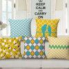 Wholesale Cotton Linen Woven Sofa Pillow Cushion Cover (35C0049)
