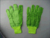 PVC Dotted Drill Cotton Working Glove-2205. Gn