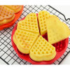Hot Selling Non-Toxic Heart Shape Silicone Cake Mould Waffle Mold