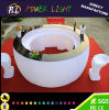 Lounge Furniture Plastic Color Changing Rechargeable LED Curved Bar