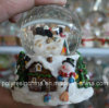 Resin Customized Christmas Crafts of Snowman Snow Globe