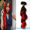 T-Color Virgin Human Hair Weft in Red and Black
