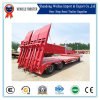 China Low Bed Full Trailer Tractor Trailer with Hydraulic Ladder