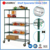 Epoxy Restaurant Chrome Metal Kitchen Vegetable Trolley