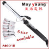 M601b Chrome Plated Barrel LCD Hair Curling Iron