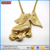Factory Wholesale Gold Plated Large Pendant Punk Necklace