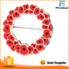 Poppy Lapel Badge, Poppy Badge with Safety Pin