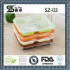 3compartment Disposable Plastic Food Tray, Microwave Safe