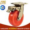 Heavy Duty Double Brake Nylon Caster Wheel