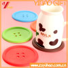 Wholesale Button Cute Silicone Cup Mat with Coaster Customed (XY-HR-68)