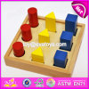 2017 New Design Toddlers Geometry Blocks Wooden Toddler Montessori Materials W12f011
