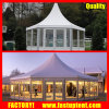 Hexagonal Gazebo Glass Solid Wall Pagoda Tent Diameter 12m