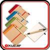 Custom Logo Mini Spiral Bound Kraft Paper Notebook with Pen