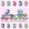 Wholesales 925 Sterling Silver CZ Crystal European Beads