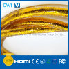 HDMI 19 Pin Plug-Plug Cable for 4K & HDTV All Gold Color
