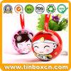 Mini Christmas Ball Tin for Candy Chocolate, Metal Gift Box