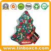 Custom Christmas Tree Shape Metal Gift Tin for Festival Holiday