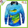 Latest Design Long Sleeve Fishing Jersey 100% Polyester Customized Dye Sublimation Fishing Clothing Wholesale Fishing Shirts