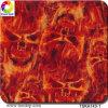 Width 1 M Flame Design Aqua Print Hydrographic Film&Tska143-1