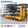 60t Tri Axle Heavy Duty Lowdeck Lowbed Hydraulic Semi Truck Trailer for Sales