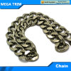 Black Flat Long Link Chain