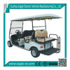 6 Seater Electric Golf Cart, with Flip Seat, 48V 5.3kw, Foldable Windshield, Rear Drum Brake, Speedometer, Hour Meter