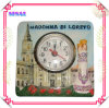 Ceramic Embossed Clock for Tourist Souvenir Crafts