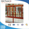 Wooden Color Fixed Window Aluminium Fixed Glass Windows Vacuum Insulating Glass Window