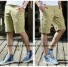 Cool Mens Print Khaki Chinos Cotton Shorts