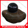 Natural Stone Water Feature Granite Rotating Ball World Map Fountain
