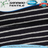 Indigo 100% Cotton Striped Jersey Knitting Knitted Denim Fabric for T-Shirt