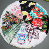 Large 2017 Hot Selling Girls Circle Peacock Factory Round Beach Towels