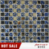 Blue Color Crystal Mosaic Art Background Metal Plating Glass Mosaic