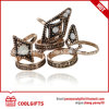 Zinc Alloy White Decorative Resin Diamond Jewelry Ring Set
