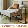 Modern Furniture Chaise Lounge with Ottoman for Hotel Bedroom