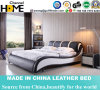 New Elegant Design Modern Genuine Leather Bed (HC385) for Bedroom