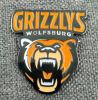 Custom Bear Shaped Black Nickel Plated Enamel Pin / Badge