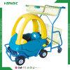 Supermarket Children Shopping Trolley with Toy Car