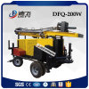 200m Trailer Mounted Pneumatic Drilling Rig for Water