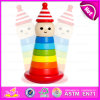 2015 Colorful Kids Building Blocks Toys, Cheap Children Wooden Clown Stack Toy, Educational Toys Stacking Clown Game W13D062