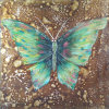Green Jade Butterfly Abstract Painting on Canvas for Room (LH-132000)
