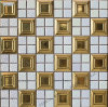 Ceramic Mosaic Tile with Golden Color