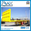 Flatbed Two Axle Semi Trailer with Gantry