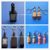 3D Wine Bottle Shaped Keychains Mini Whisky Bottle Key Ring